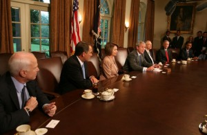 President_George_W._Bush_bipartisan_economic_meeting_Congress,_McCain,_Obama